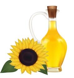 Oil in a bottle vector