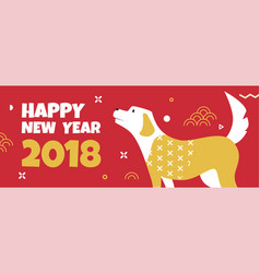 Template banner for web with dog in memphis style vector