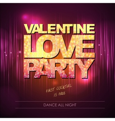 Valentine love party background vector image