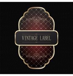 Vintage golden label vector image vector image