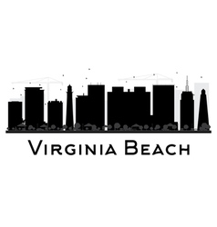Virginia Beach City skyline black and white vector image vector image