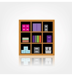 Wooden Cabinet vector image