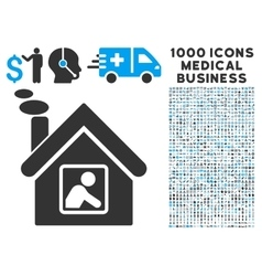 Workshop building icon with 1000 medical business vector