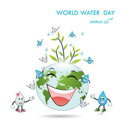 World water day cartoon designwater cartoon vector
