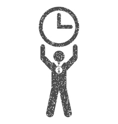 Time champion grainy texture icon vector