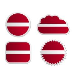 Latvia flag labels vector image
