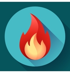 Red fire flame icon vector