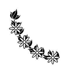 Flower flora decoration image outline vector
