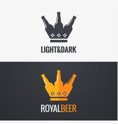 Beer bottle concept design background vector