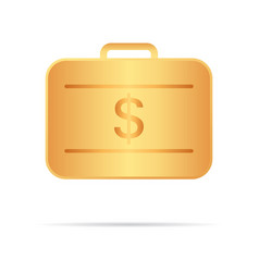 Golden suitcase with money your personal secure vector