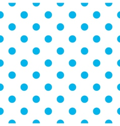 Blue polka dot seamless pattern design vector