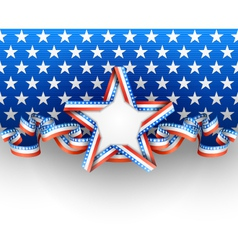 Patriotic background with star vector image