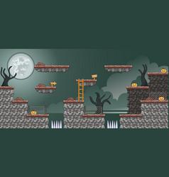 2d tileset platform game 17 vector