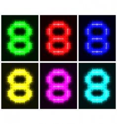 number 8 symbols  vector image