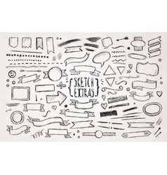 Hand drawn sketch elements vector