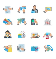 Credit life icon flat vector