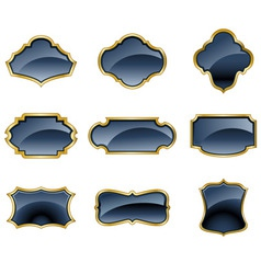 a set of glass labels vector image