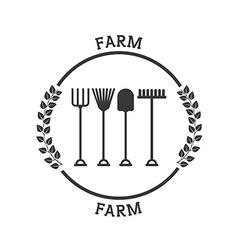 Farm fresh pictogram vector