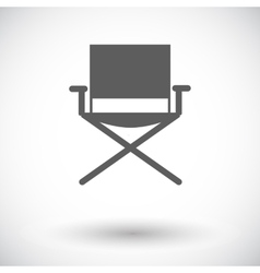 Camping chair vector