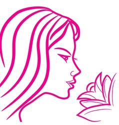 zodiac sign virgo logo vector image