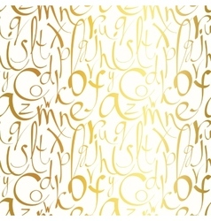 Seamless pattern with hand drawn letters vector image