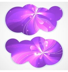 A set of modern banners with flower vector image