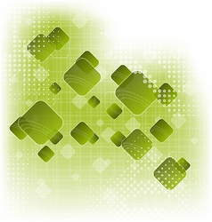 Abstract creative green background with squares vector image vector image