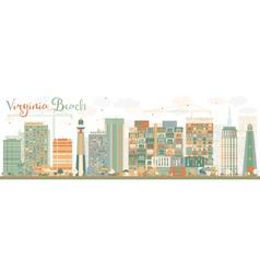 Abstract virginia beach virginia skyline vector