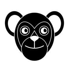 Capuchin primate brazil fauna pictogram vector