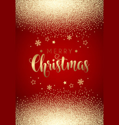 christmas background with gold confetti vector image vector image