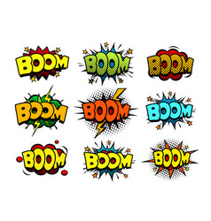 comic cartoon style bubbles loud exlosion sound vector image vector image