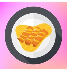 Crepes pancakes honey syrup flat vector