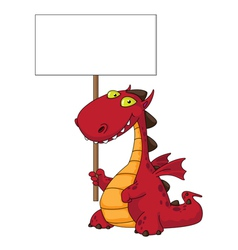 dragon and blank vector image vector image