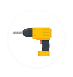Electric screwdriver icon flat style vector