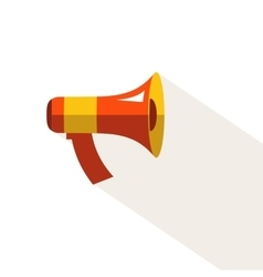 Flat icon of megaphone for social media vector