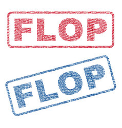 Flop textile stamps vector