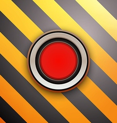 Industrial Red Button Do not press vector image vector image