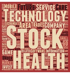 Invest in technology final text background vector