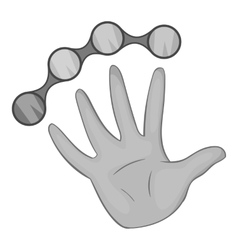 Knuckles with hand icon black monochrome style vector