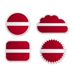 Latvia flag labels vector image vector image
