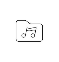 music folder icon vector image