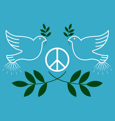 Peace vintage and retro typographic design vector