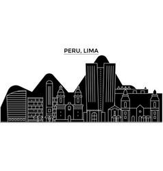 peru lima architecture city skyline vector image