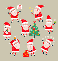 santa claus set vector image