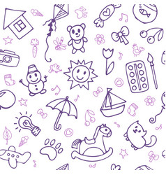 seamless pattern for cute little boys and girls vector image vector image