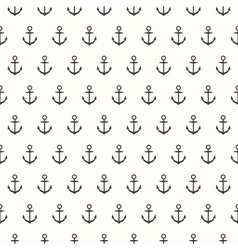 Seamless pattern with grey anchors vector
