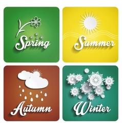Seasons flat design vector image