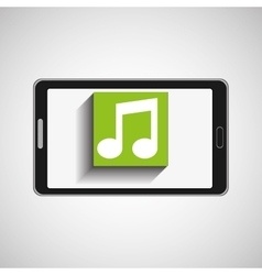 Smartphone technology music digital vector