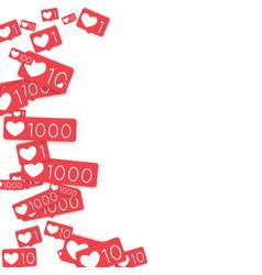 Social media counters vector