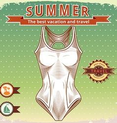 Summer vintage poster vector